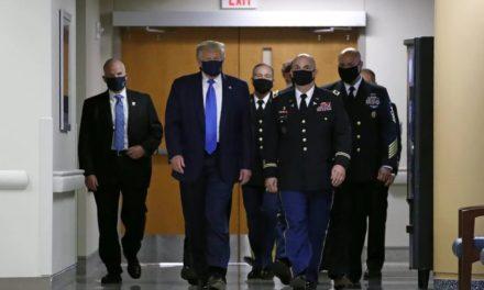 啪啪打脸!特朗普首次在公开场合佩戴口罩!移民局迫于舆论修改针对留学生新政!