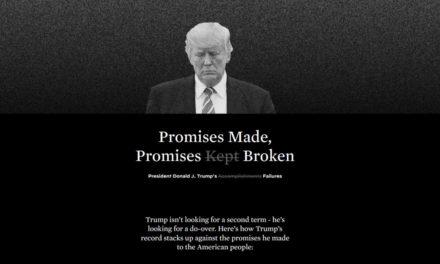 狠人!民主党买网站罗列特朗普的政策失误和未兑现承诺!