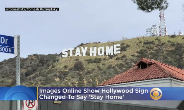 """好莱坞秒变""""好莱胸""""?Hollywood标志又双叒叕被盯上了……"""