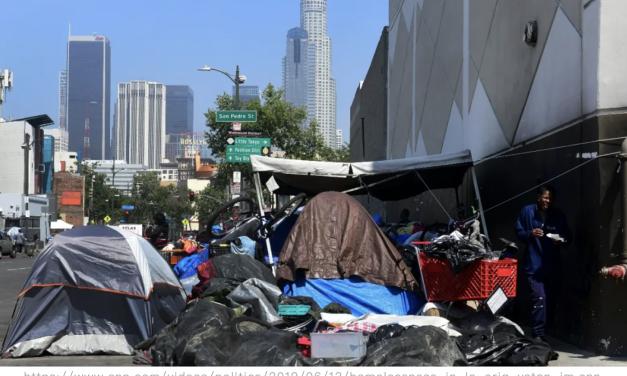 面对越来越多流浪汉当街扎营的问题,洛杉矶市政府终于要采取措施了!