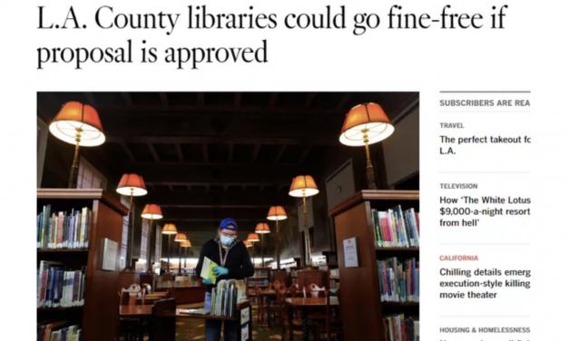 洛杉矶图书馆将不再收逾期费!网友:看来我可以省下我那25分钱了。